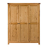 Elements Brunswick Bedroom Three Door All Hanging Wardrobe in Warm Lacquer