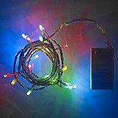 20 Multi Coloured LED Battery Fairy Lights