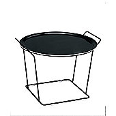 Maze Minnie Mae Large Tray Table - Black Metal Wire and Black Moulded Plywood