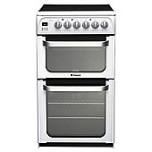 Hotpoint HUE52PS, White, Electric Cooker, Double Oven, 50cm