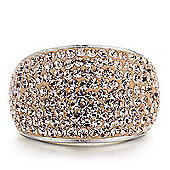 Shimla Ladies Rose Gold Crystal Pave Ring SH-085ML