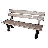 Armless Grey Bench in Recycled Plastic