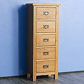 Surrey Oak Tallboy Chest - Rustic Oak
