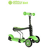 Yvolution Y Glider 3-in-1 Kids' Scooter, Green