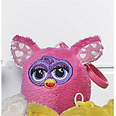 Furby 7cm Keychain - Plush, No Sound - Light Pink Hearts Ears