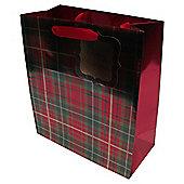 Tartan Christmas Gift Bag, Medium