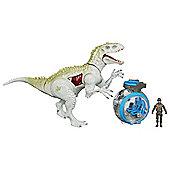 Jurassic World Indominus Rex vs Gyro Sphere