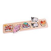 Bigjigs Toys Chunky Lift and Match Farm Puzzle