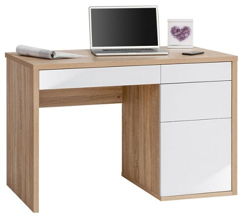 Maja Club Oak and White Computer Desk