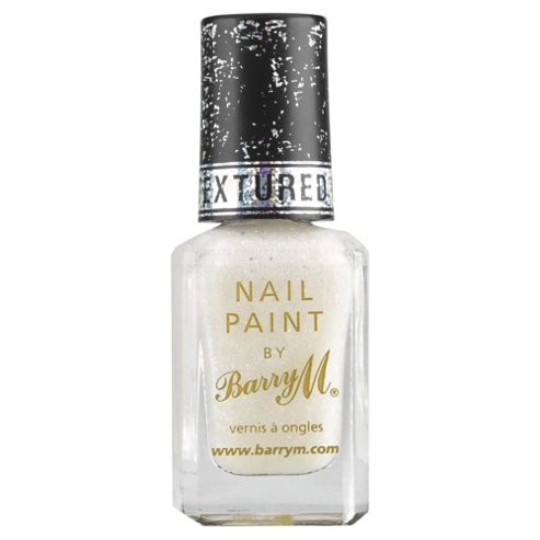 Barry M Textured Glitter Nail Paint 8 White Pearl Lady 10Ml