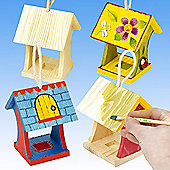 Mini Wooden Craft Bird Feeders (Pack of 4)