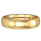 Jewelco London 18ct Yellow Gold - 5mm Premium Court-Shaped Band Commitment / Wedding Ring -