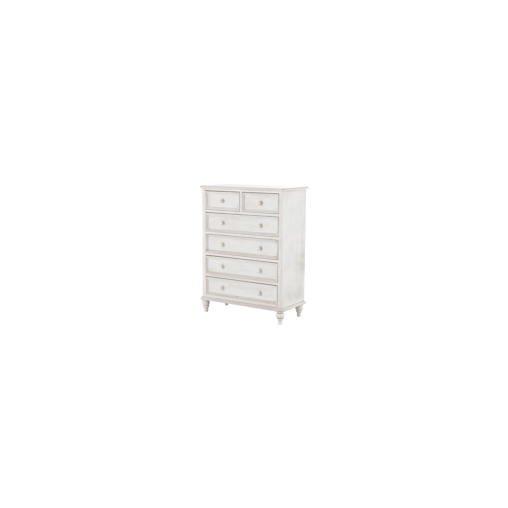 Thorndon Brittany 2 Over 4 Jumbo Drawer Chest in Antique White at Tesco Direct
