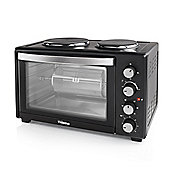 Tristar BBQ Rotisserie 45 Litre Mini Oven With Grill and Two Hot Plates