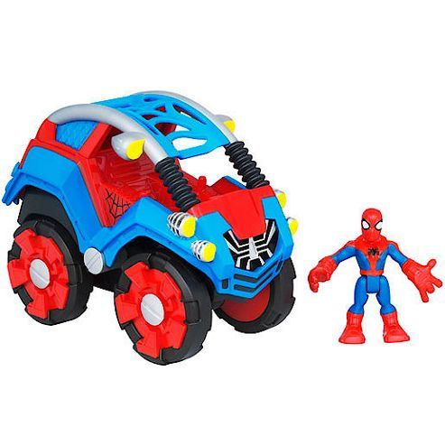 Playskool Heroes Marvel Spider-Man Adventures - Stunt Buggy and Spider-Man