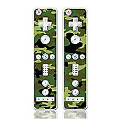 Skins4Things Wii Controllers (dual pack) - Jungle Camouflage - NintendoWii