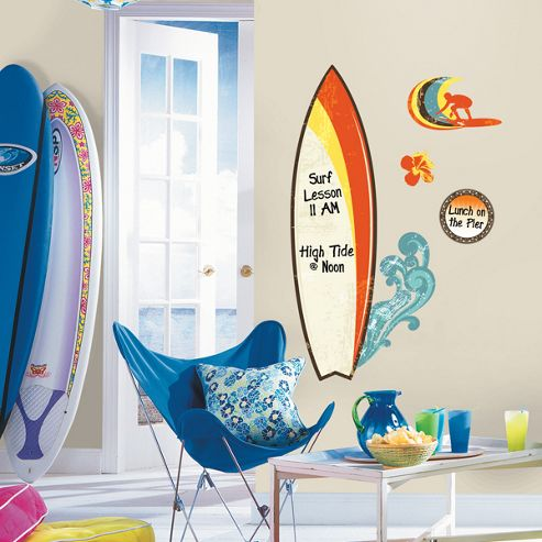 buy surf dry erase wall stickers from our wall stickers