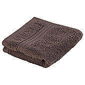 Tesco Hygro cotton Face Cloth Chocolate
