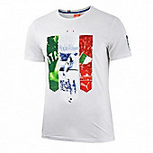 2014-15 Italy Puma Badge Tee (White) - Navy