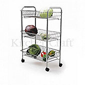 TP - Trolley Three Tier 66x43x28 - Chrome Plated