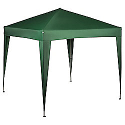 Tesco Polyethylene & Metal Showerproof Gazebo, Green