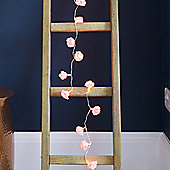 20 LED Battery Pink Rose Flower Fairy Lights