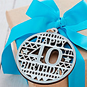 40th Birthday Decoration