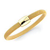 Jewelco London Sterling Silver - Gold-hue Galvanised Wristpiece - Bangle - Ladies