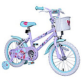 "Butterfly 16"" Kids' Bike with Stabilisers"