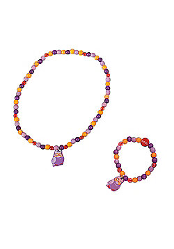 Tatiri Owl Bracelet and Necklace (Purple Owl)