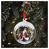 Glass Santa Scene Bauble Christmas Tree Decoration