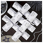Silver Snowflake Christmas Crackers,6 pack
