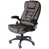Homcom Massage Office Computer Chair W/Heat-Brown