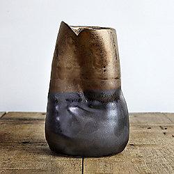 Distorted Dipped Bronze Ceramic 16cm Vase
