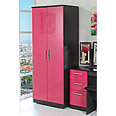 Welcome Furniture Knightsbridge Tall Plain Wardrobe - Pink - Walnut - 197cm H