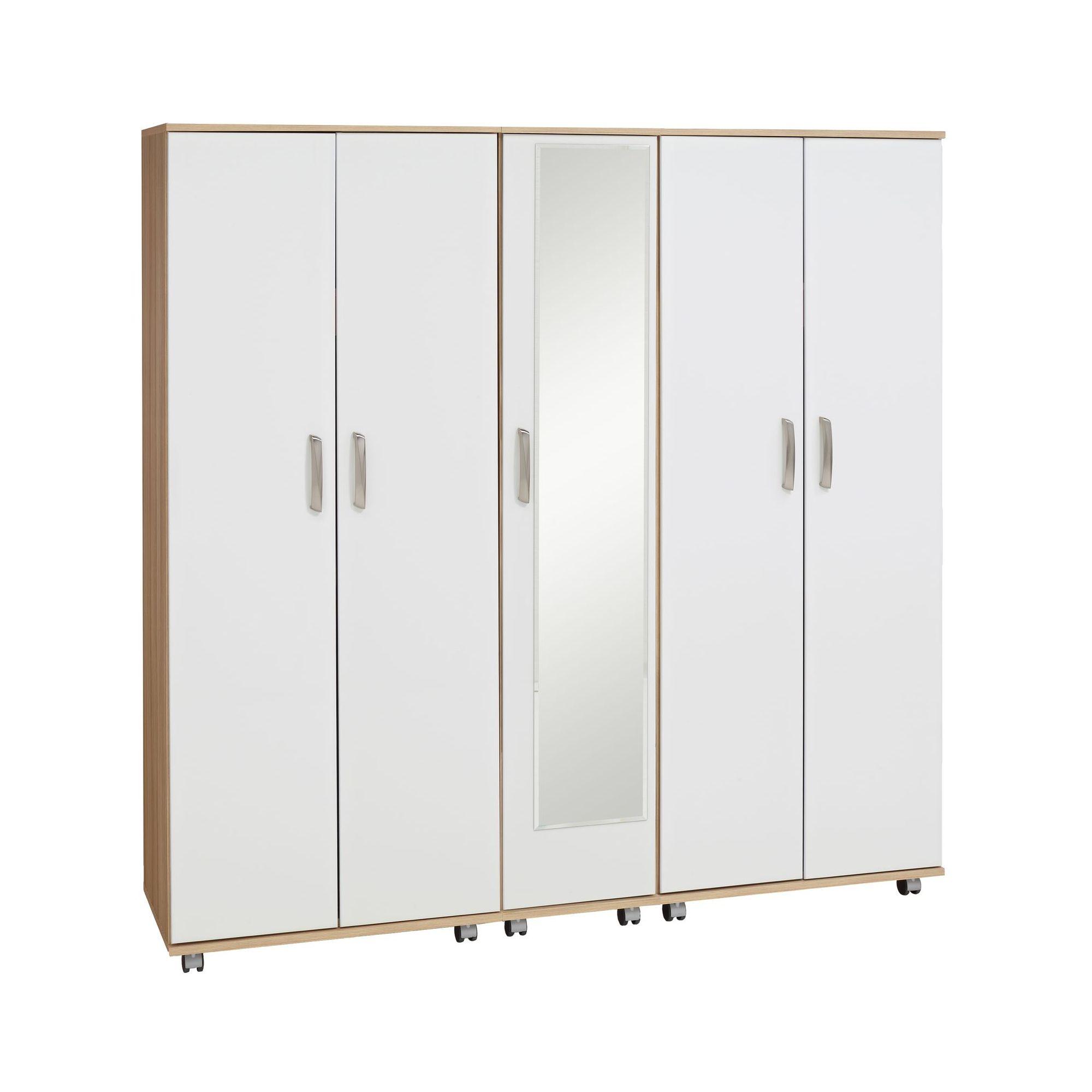 Ideal Furniture Regal 5 Door Wardrobe in white at Tesco Direct