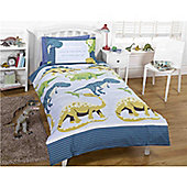 Rapport Kids Dino Facts Single Quilt Set Blue