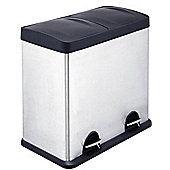 Premier Housewares 48 L Recycle Pedal Bin with Inner Plastic Bucket