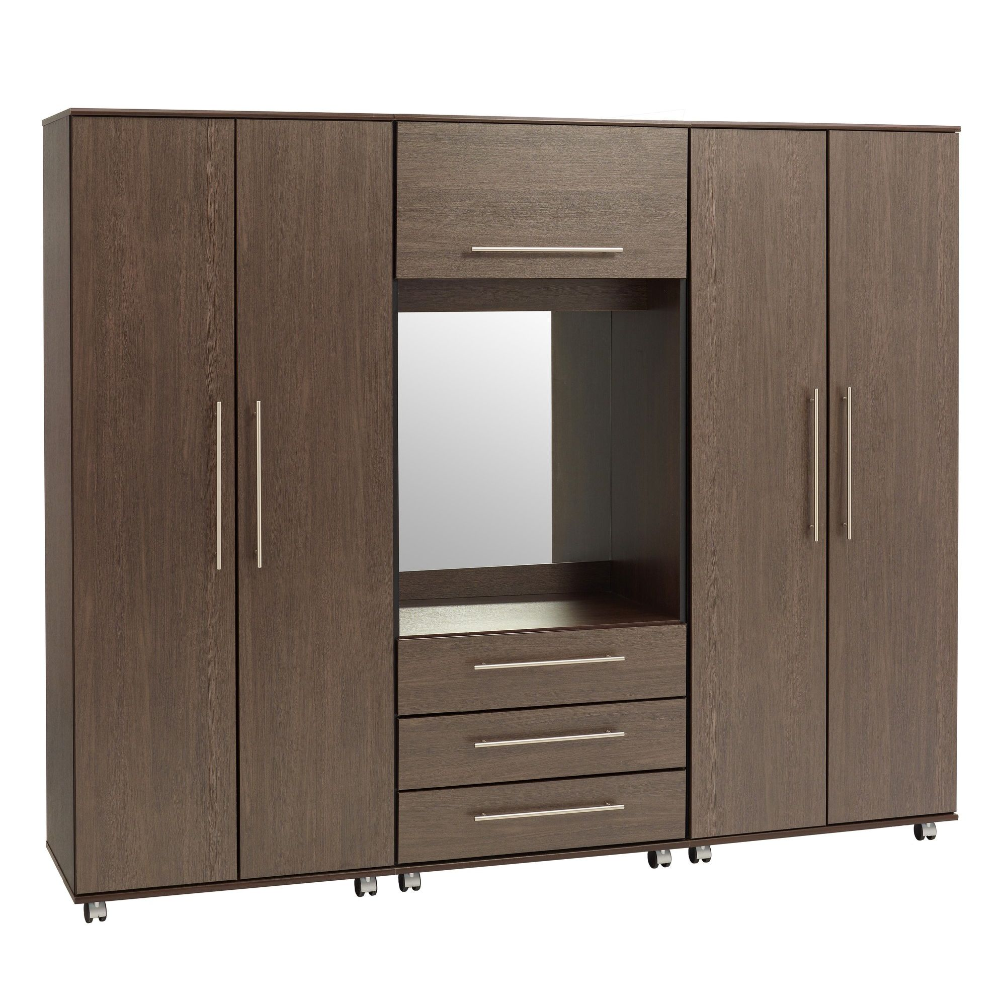 Ideal Furniture New York Fitment Wardrobe - Wenge at Tesco Direct