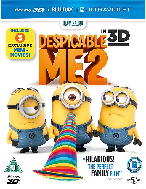 Despicable Me 2 - Bluray 3D & Bluray & Uv