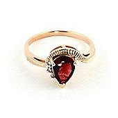 QP Jewellers Diamond & Garnet Belle Diamond Ring in 14K Rose Gold