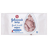 Johnson's Baby First Touch Wipes - 64 Wipes""