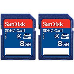 SanDisk 8GB SDHC Memory Card Two-Pack