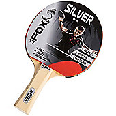 Fox Silver 2 Star Table Tennis Bat With Pimpled-In Rubber And Flared Handle