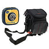 Navitech Black Portable Handheld Case and Travel Bag for the VTech KidiZoom Action Cam