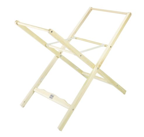 Lollipop Lane Classic Moses Basket Stand in Natural Wood