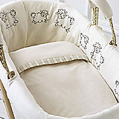 Natures Purest Sleepy Sheepy - Dressed Moses Basket