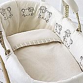 Natures Purest Sleepy Sheepy Moses Basket