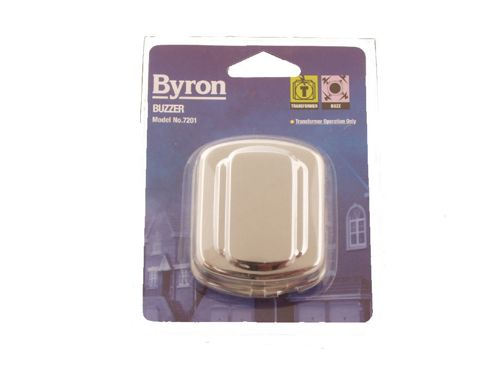 Byron 7201 Buzzer Chrome