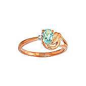 QP Jewellers Diamond & Aquamarine Angel Ring in 14K Rose Gold